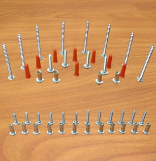 Powder coated steel fasteners