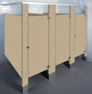 Plastic Laminate bathroom stalls